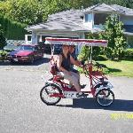 Amber & Len, Albertan's wheely havin fun