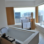 Luxurious soaking tub