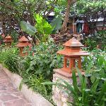 Rambuttri Square around Koi Pond