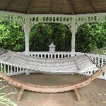 Hammock under the gazebo