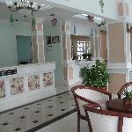 lobby, is much newer than the room