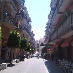 The street outside the hotel