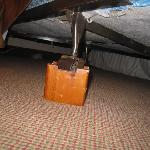 View of the potential toe breaker luking under the beds.
