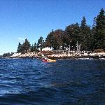 Kayaking around Spruce Point
