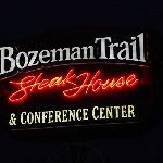 Neon sign outside the Bozeman Trail