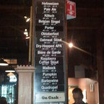 Beer menu, the night we dined & drank.
