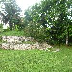 Mayan ruins located on the property