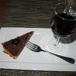 Dark Chocolate Tart with Washington Syrah Port