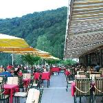 Terrace at the Hotel Donauschlinge