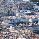 Vue hôtel du château Sao Jorge