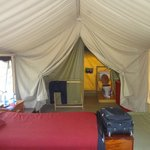 Inside JK Mara Tented Accomodation