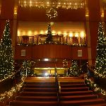 The foyer at Christmas is AMAZING