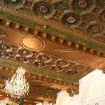 Carved ceiling in restaurant, St. Regis