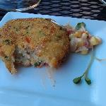 crabcakes were very good- but not the best I've had. nice corn relish with them.