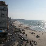 Tel Aviv boardwalk from above