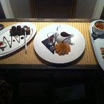 a selection of Charlie's signature desserts