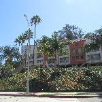 LA hotel on a hill