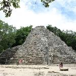 Nohoch Mul -This 138-foot high pyramid rises even higher than the more famous El Castillo in Chi