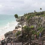 View of the sea from Tulum structure