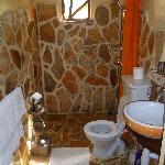 Bathroom in room. Lovely!