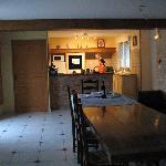 sala comune con cucina a disposizione