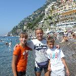 At the beach in Positano