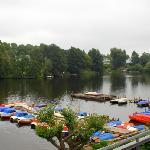 Wakenitz River in front of hotel