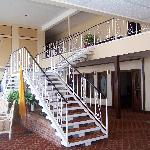 Lobby with stairs to second floor