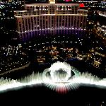 Bellagion Fountains as viewed from the top of Eiffel Tower