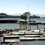View of the sea lion docks and Bay from Pier 39