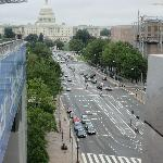 view from the terrace on top floor of Newseum