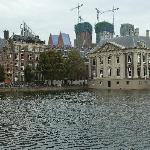 The building on the right is the Mauritshuis