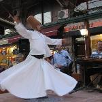 Whirling dervish at Mesale Cafe