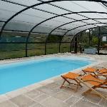 la piscine couverte... et chauffée