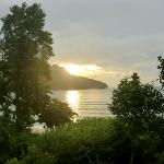 view of sunset over bay