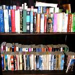 free book exchange in the lobby