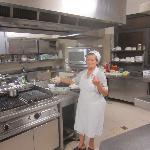 the quintessential Italian grandmother making kitchen magic
