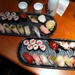 2 sushi platters at Sushi Hachi