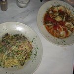 Carbonnara and Steamed Cloams Linguini