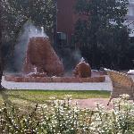La fontana di acqua termale