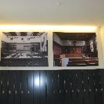 Shows the courtroom before and after