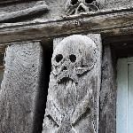 Wood carvings of the dead