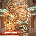 The check in area at The Venetian