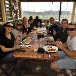 Our group, having lunch at Waimea Estate