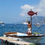 Da Adolfo boat at Positano dock