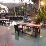 Our Lomani Wai dinner in the pool