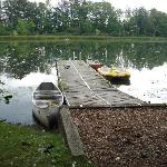 Beautiful Dock--Swan-Protected Boats