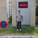Steve in front of Mercure Eiffel Tower Paris