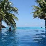 Infinity Pool at other end of resort (quietier)