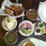 this is what we ordered - naan malai kofta baigan bharta and other stuff - loved it